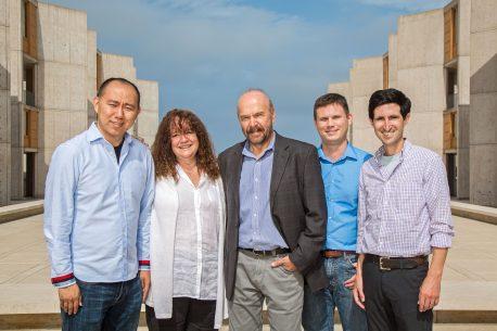 From left: Chongyuan Luo, Margarita Behrens, Joseph Ecker, Christopher Keown, Eran Mukamel