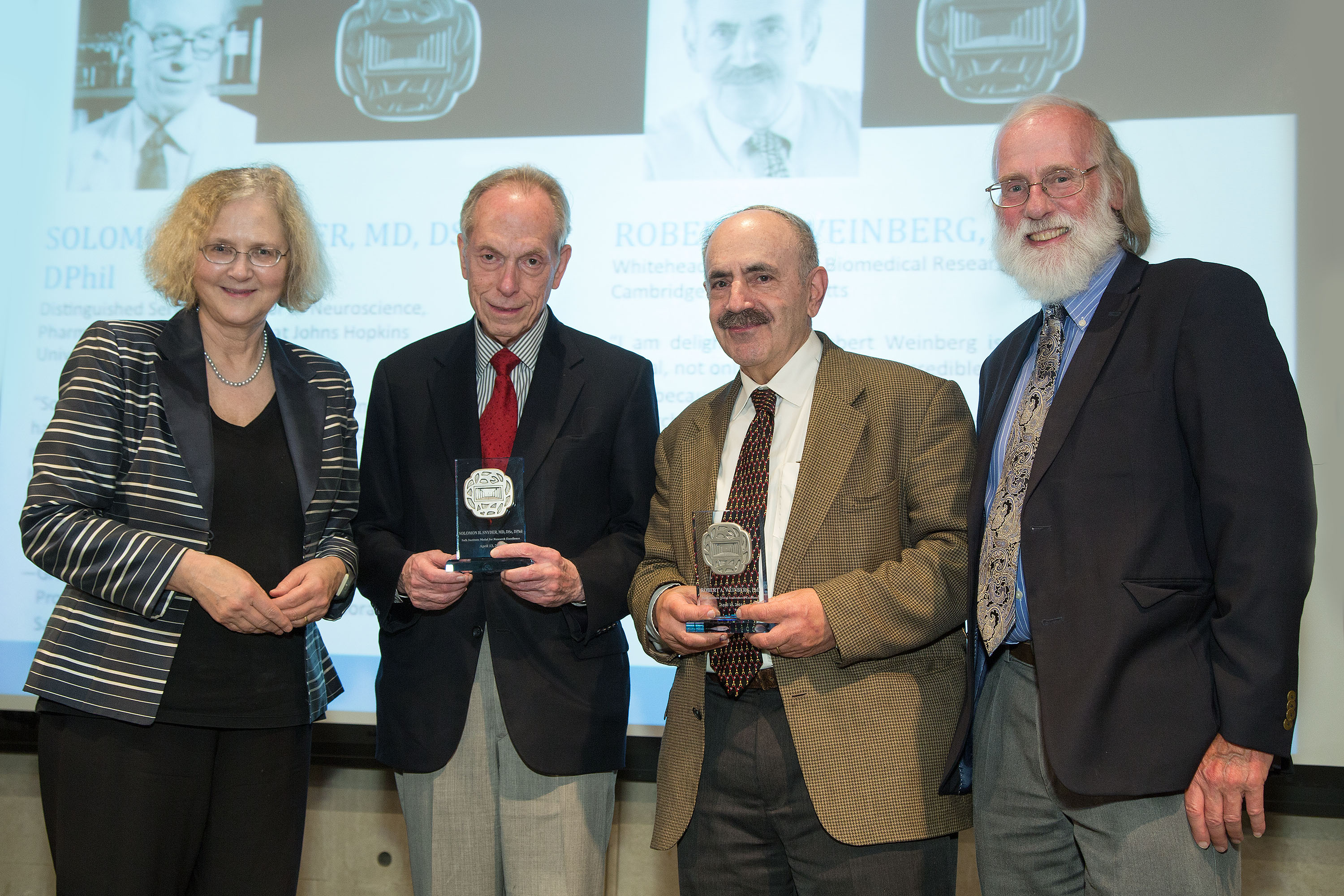 Salk Institute medals awarded to pioneering neuroscience and cancer