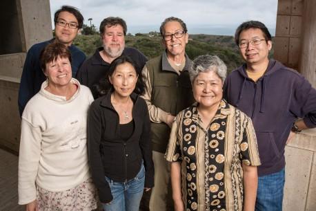 Back row: Ling-wa Chong, Michael Downes, Ron Evans, Xuan Zhao front: Ann Atkins, Ruth Yu, Ester Banayo