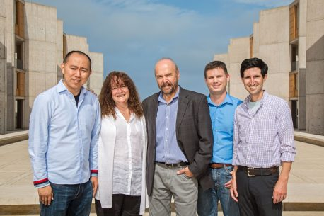 From left: Chongyuan Luo, Margarita Behrens, Joseph Ecker, Christopher Keown, Eran Mukamel