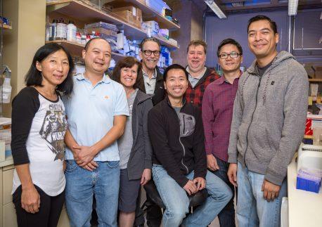 From left: Ruth Yu, Ye Zheng, Annette Atkins, Ronald Evans, Nanhai He, Michael Downes, Weiwei Fan, Brian Henriquez