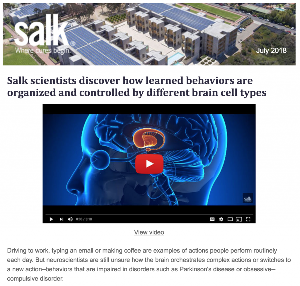 Salk Central Newsletter Institute For Biological Studies Swith Diagram October 2013 July 2018 Issue