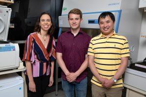 From left: Diana Hargreaves, Nicholas Elliott and Fangjian Gao.