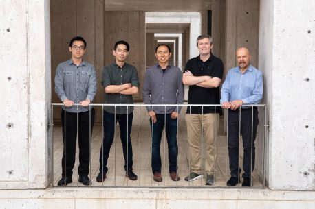 From left: Jingtian Zhou, Dong-Sung Lee, Chongyuan Luo, Jesse Dixon and Joseph Ecker.