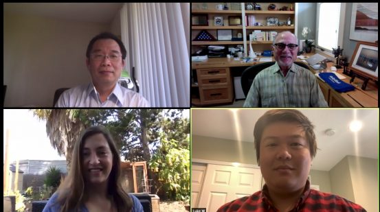 Top row from left: Leo Li and Geoffrey Wahl. Bottom row from left: Nikki Lytle and Luke Wang.