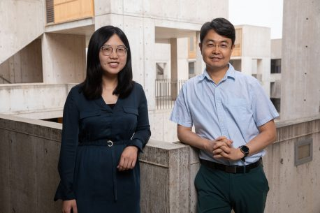 From left: Shijia Liu and Sung Han